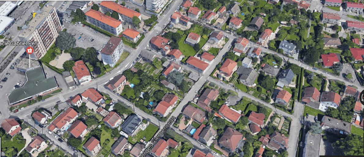 Je reprends le chemin de la maison - Capture d'écran Google Maps