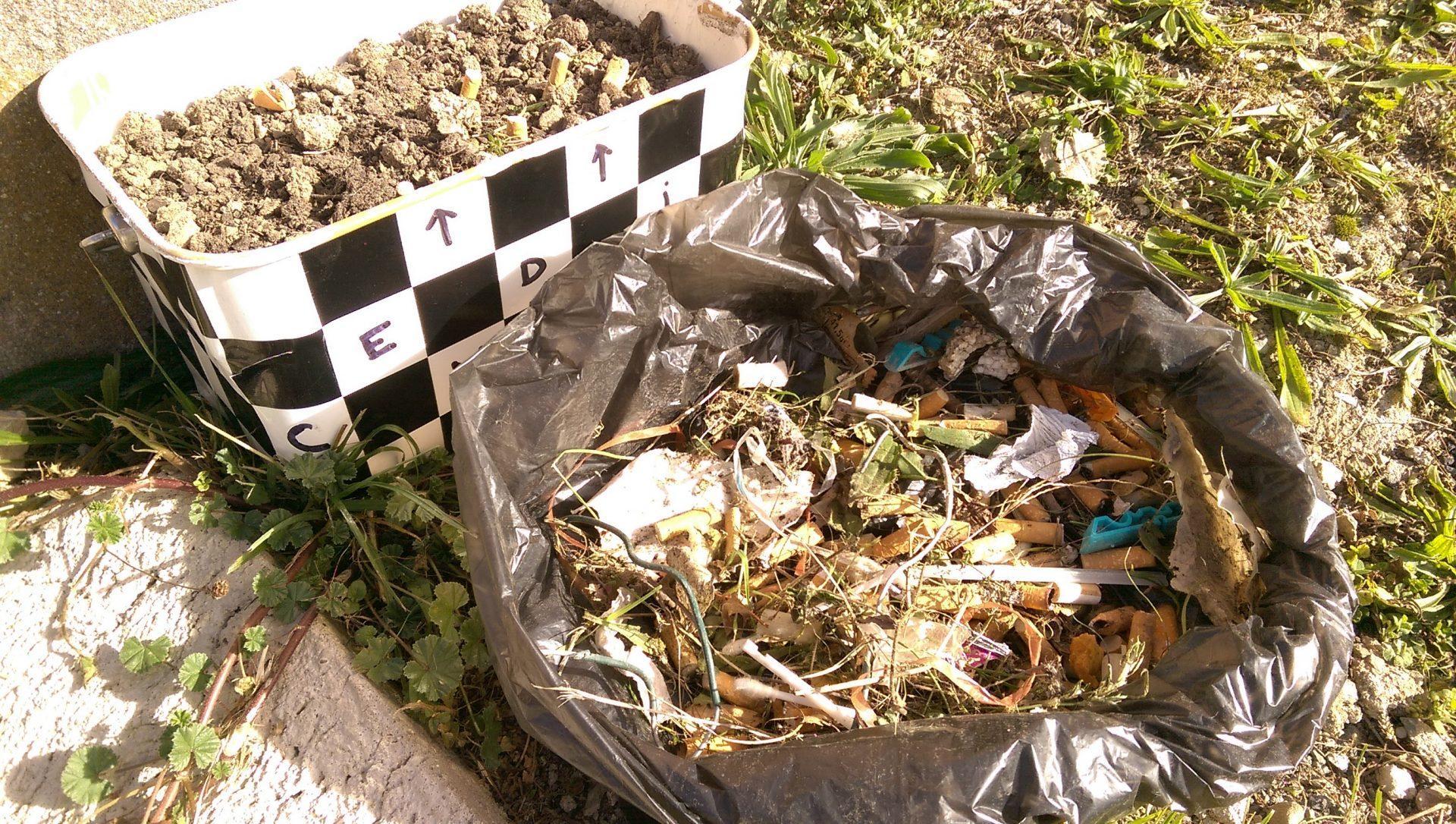 Un cendrier zéro déchet et recyclé - Crédit photo izart.fr